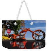 Motorcycle Reflections Weekender Tote Bag
