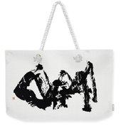 Mountain Avant-garde Calligraphy Weekender Tote Bag