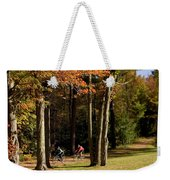 Mountain Bikers Ride In New Gloucester Weekender Tote Bag