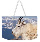 Mountain Goat Portrait On Mount Evans Weekender Tote Bag