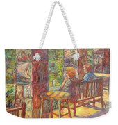 Mountain Lake Evening Weekender Tote Bag