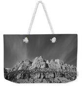 Mountain Peaks And Shimmering Sky Weekender Tote Bag