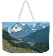 Mountain Peaks From Icefields Parkway-alberta Weekender Tote Bag