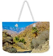 Mountain Peaks From Lower Palm Canyon Trail In Indian Canyons Near Palm Springs-california Weekender Tote Bag