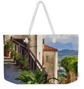 Mountain Village Impasto Weekender Tote Bag