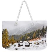 Mountain With Snow Weekender Tote Bag