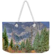 Mountains And Trees Weekender Tote Bag