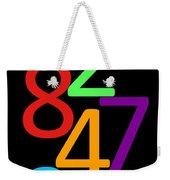Multi-color Numbers Weekender Tote Bag