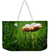 Mushroom Growing Wild On Lawn Weekender Tote Bag