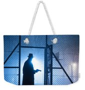 Mysterious Man With Pistol Ballpark Night Fog Weekender Tote Bag