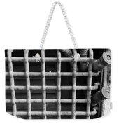 N Y C Grates In Black And White Weekender Tote Bag