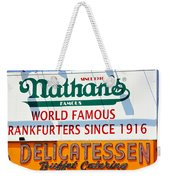 Nathan's Sign Weekender Tote Bag