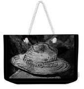 National Park Service Ranger Hat Black And White Weekender Tote Bag