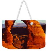 Natural Arch In A Desert, Delicate Weekender Tote Bag