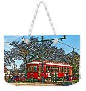 New Orleans Streetcar Painted Weekender Tote Bag