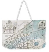 New York City Map, 1728 Weekender Tote Bag