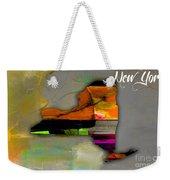 New York Map Watercolor Weekender Tote Bag