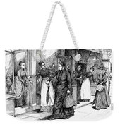 New York Milliner, 1889 Weekender Tote Bag