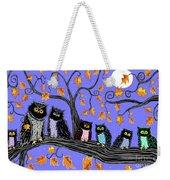 Night Owls Weekender Tote Bag