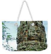 North Gate Of Angkor Thom In Angkor Wat Archeological Park-cambodia Weekender Tote Bag