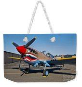 Nose Art On A Curtiss P-40e Warhawk Weekender Tote Bag