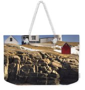 Nubble Lighthouse 3 Weekender Tote Bag by Joann Vitali