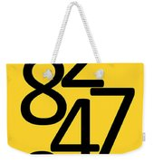 Numbers In Black And Yellow Weekender Tote Bag