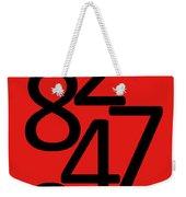 Numbers In Red And Black Weekender Tote Bag