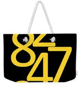 Numbers In Yellow And Black Weekender Tote Bag