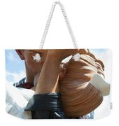 Nurse And Sailor Kissing Statue Unconditional Surrender Closeup  Weekender Tote Bag