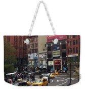 Nyc Street Scene Weekender Tote Bag
