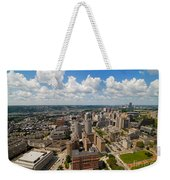 Oakland Pitt Campus With City Of Pittsburgh In The Distance Weekender Tote Bag