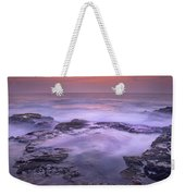Ocean And Lava Rocks At Sunset Puuhonua Weekender Tote Bag
