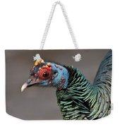 Ocellated Turkey Portrait Weekender Tote Bag