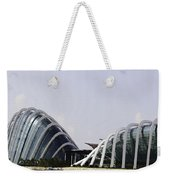 Oil Painting - Both Of The Conservatories Of The Gardens By The Bay In Singapore Weekender Tote Bag