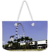Oil Painting - Preparation Of Formula One Race With Singapore Flyer And Marina Bay Sands Weekender Tote Bag