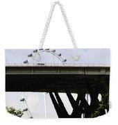 Oil Painting - Span Of The Benjamin Sheares Bridge With Its Pillars In Singapor Weekender Tote Bag