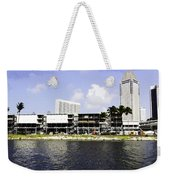 Oil Painting - View Of The Preparation For The Formula One Race In Singapore Weekender Tote Bag