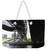 Oil Painting - View Under The Bayfront Bridge And Helix Bridge In Singapore Weekender Tote Bag