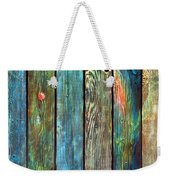 Old Barnyard Gate With Colors Brightened Weekender Tote Bag