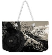 Old Black Locomotive Engine Details Weekender Tote Bag