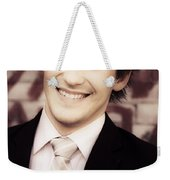 Old Fashion Business Service With A Smile Weekender Tote Bag