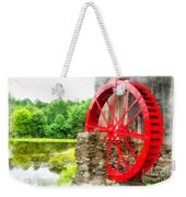 Old Grist Mill Vermont Red Water Wheel Weekender Tote Bag
