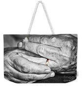 Old Hands With Wedding Band Weekender Tote Bag