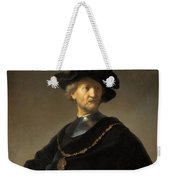 Old Man With A Gold Chain Weekender Tote Bag