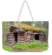 Old Traditional Log Cabin Rotting In Yukon Taiga Weekender Tote Bag