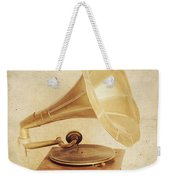 Old Vintage Gold Gramophone Photo. Classical Sound Weekender Tote Bag