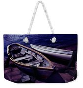 Old Wooden Boats At Night Weekender Tote Bag
