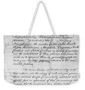 Olive Branch Petition, 1775 Weekender Tote Bag
