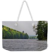 On The Delaware River Weekender Tote Bag